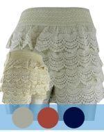 Shorts de Algodón Bordado x4 unds. Tallas : M/L