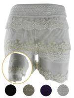 Shorts con Encaje x3 unds. Tallas: L - XL