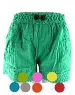 Shorts de Bambula c/ 2 Botones x 4 unds. Tallas : Standar